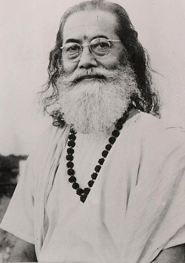 portrait en noir et blanc de Paramahamsa Hariharananda