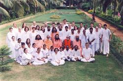 Les étudiants lors du Residential Brahmachari Course Balighai Kriya Yoga ashram, Orissa, Inde
