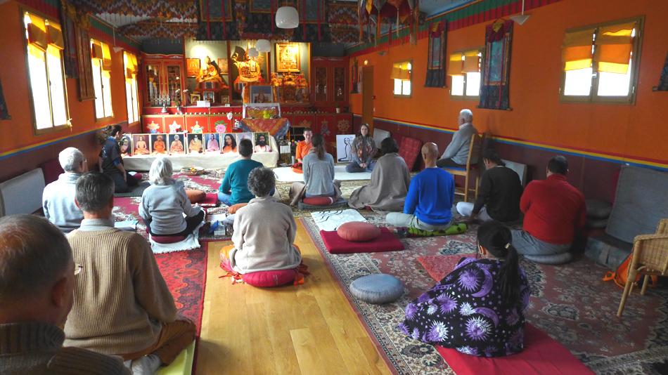 Méditation collective au programme de Kriya Yoga de Chelles en janvier 2016