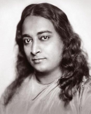 Portrait de Paramahamsa Yogananda en noir et blanc