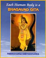 Couverture du livre Each human body is Bhagavad Gita de Paramahamsa Hariharananda