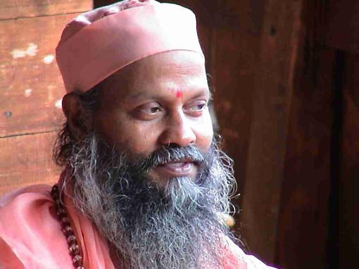 Swami Brahmananda Giri pensif