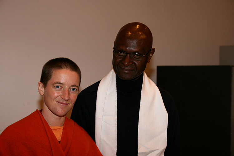 Swami Mangalananda Giri et Eugene au programme kriya yoga de Paris en janvier 2009