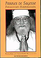 Couverture du livre Paroles de sagesse de Paramahamsa Hariharananda
