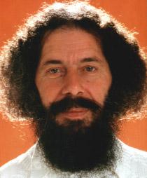 Rajarshi Peter Baba sur fond orange