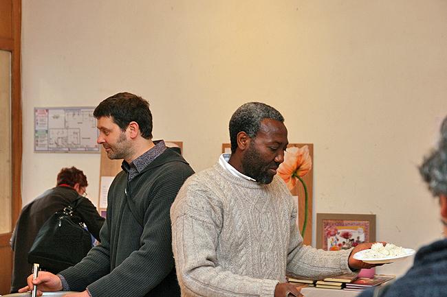 Clovis et Baudoin au programme de kriya yoga de Paris en mars 2008