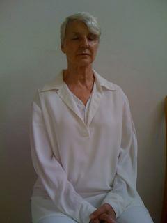 personne méditant à Sterksel stage kriya yoga d'été d'Août 2008