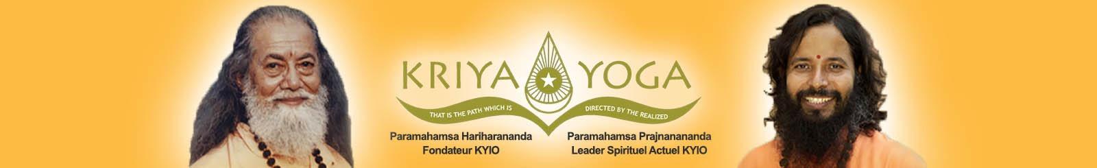 Grande banniere orange IKY Kriya Yoga France.