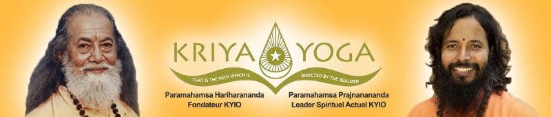 Petite banniere orange de l'Institut de kriya yoga France. That is the path which is directed by the realized, Paramahamsa Hariharananda fondateur et Paramahamsa Prajnanananda Leader actuel