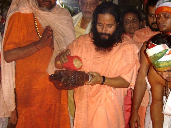 Paramahamsa Prajnanananada céremonie Purnahuti