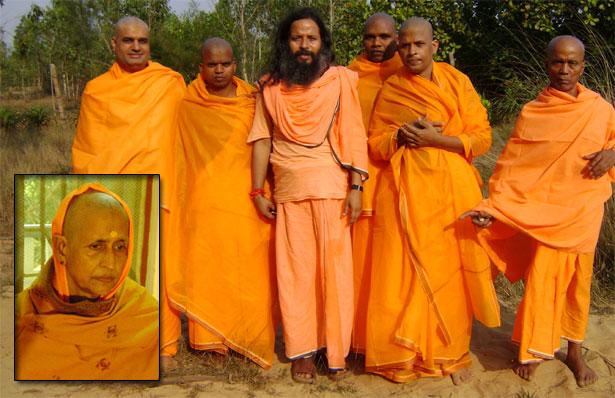 Initations au Vanaprasthi au Hariharananda Kriya Yoga Gurukulam février 2009