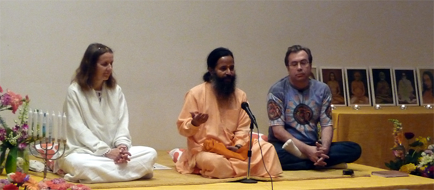 Christian avec Claudia et Prajnanananda